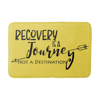 Tapete De Banheiro A recuperação é uma viagem não um destino