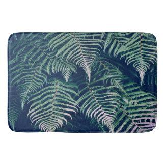 Tapete De Banheiro A samambaia tropical verde sae do teste padrão