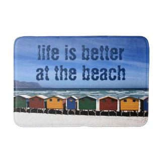 Tapete De Banheiro A vida é melhor na praia