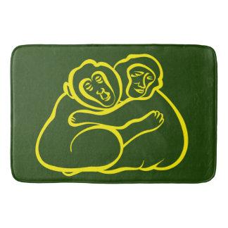Tapete De Banheiro Abraçando macacos, esverdeie a selva em sua casa