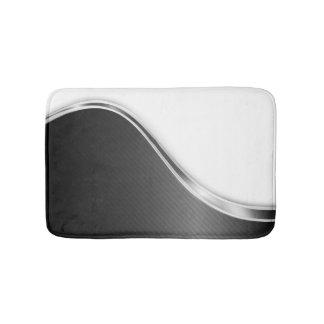 Tapete De Banheiro Abstrato escuro da onda (B/W) esteiras de banho