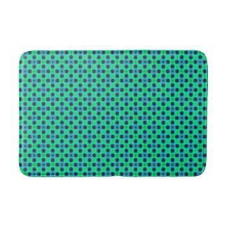 Tapete De Banheiro Abstrato geométrico azul roxo verde