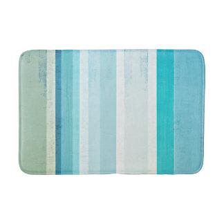 "Tapete De Banheiro ""Acena"" a arte abstracta azul e bege"