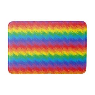 Tapete De Banheiro Agitando o arco-íris