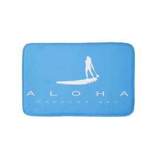 Tapete De Banheiro Aloha baía Havaí de Hanauma que Windsurfing em