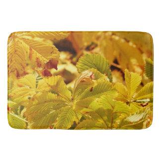 Tapete De Banheiro Amor amarelo da cor do outono