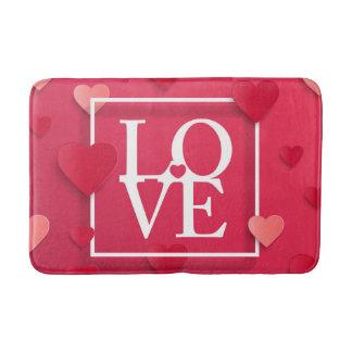 Tapete De Banheiro Amor e corações