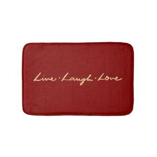 Tapete De Banheiro Amor vivo rotulado mão do riso da folha de ouro do