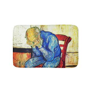 Tapete De Banheiro Ancião Sorrowing por Van Gogh