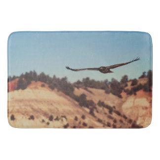Tapete De Banheiro Animais selvagens ocidentais do falcão da esteira