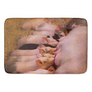 Tapete De Banheiro Animal - porco - comida do conforto
