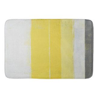 """Tapete De Banheiro Arte abstracta cinzenta e amarela """"cítrica"""""""
