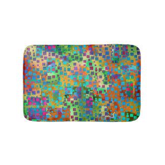 Tapete De Banheiro Arte abstrata colorida de Digitas com quadrados
