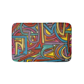 Tapete De Banheiro Arte moderna abstrata geométrica corajosa colorida
