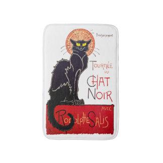 Tapete De Banheiro Arte Noir do bate-papo do gato preto de Steinlen