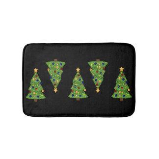 Tapete De Banheiro Árvore de Natal verde