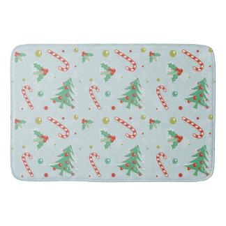 Tapete De Banheiro Árvores de Natal e bastões de doces