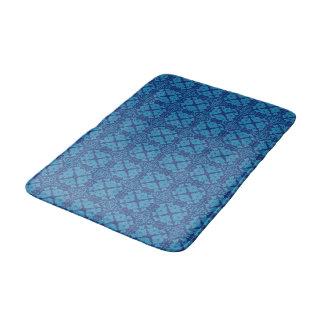 Tapete De Banheiro Azul floral geométrico do vintage no azul