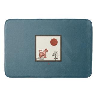 Tapete De Banheiro Azulejo do cão do Kanji