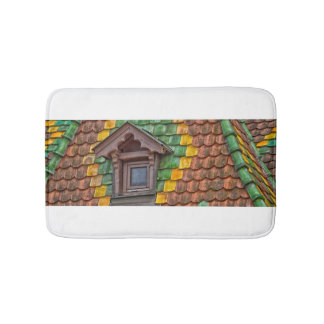 Tapete De Banheiro azulejos de telhado com cor em Obernai - Alsácia -