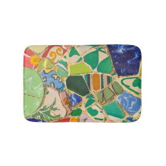 Tapete De Banheiro Azulejos verdes de Parc Guell na espanha de