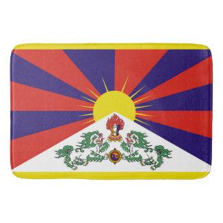 Tapete De Banheiro Bandeira da bandeira do leão de Tibet ou de neve