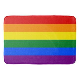 Tapete De Banheiro Bandeira do arco-íris do orgulho gay 6-Stripe de