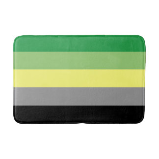 Tapete De Banheiro Bandeira do orgulho de Aromantic