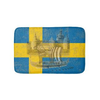 Tapete De Banheiro Bandeira e símbolos da suecia ID159