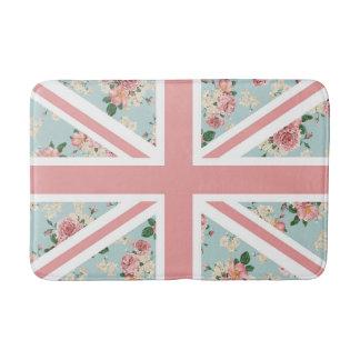 Tapete De Banheiro Bandeira inglesa de Union Jack dos rosas