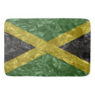 Tapete De Banheiro Bandeira jamaicana - enrugada