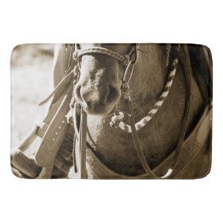 Tapete De Banheiro Banho do nariz do cavalo do Sepia/esteira de chá