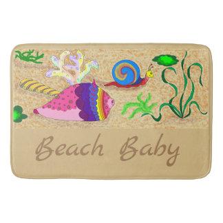 Tapete De Banheiro Bebê da praia
