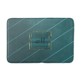 Tapete De Banheiro Bloco diagonal do monograma da listra do Pin do
