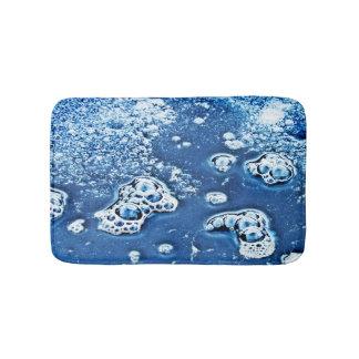 Tapete De Banheiro Bolhas abstratas água do azul e esteira de banho