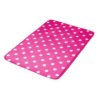 Tapete De Banheiro Bolinhas cor-de-rosa