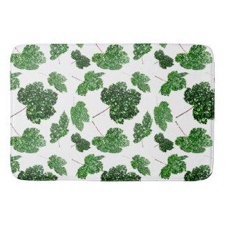 Tapete De Banheiro Branco botânico verde tropical de Cali da folha de