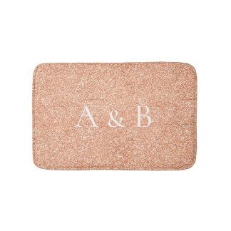 Tapete De Banheiro Brilho coral do Lux do cobre do pêssego do ouro