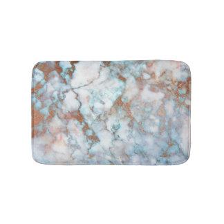 Tapete De Banheiro Brilho de pedra de mármore azul cinzento branco de