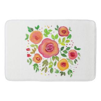 Tapete De Banheiro Buquê floral das flores brilhantes, pintura da