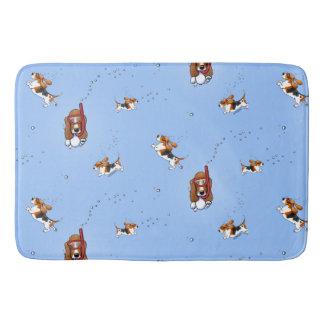 Tapete De Banheiro Cães de Basset Snorkeling