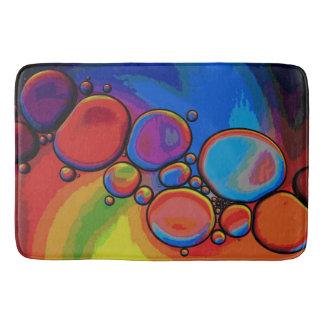 Tapete De Banheiro Caminho de Pebbled do arco-íris
