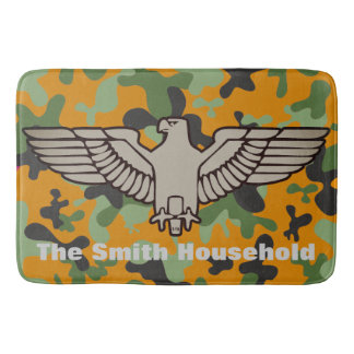 Tapete De Banheiro Camuflagem verde alaranjada personalizada Eagle
