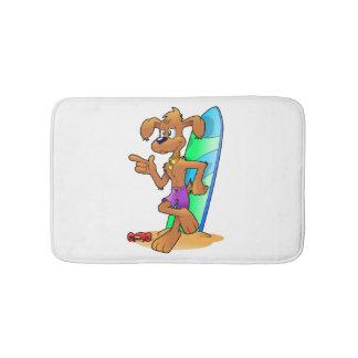 Tapete De Banheiro Cão do surf