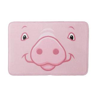 Tapete De Banheiro Cara cor-de-rosa feliz bonito do porco