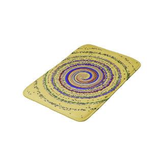 Tapete De Banheiro Caracol ensolarado. Design da estrela dos círculos