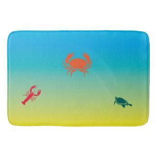 Tapete De Banheiro Caranguejo, lagosta e tartaruga