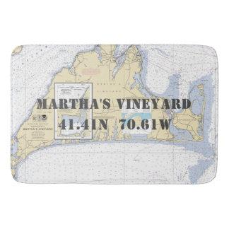 Tapete De Banheiro Carta náutica do Martha's Vineyard