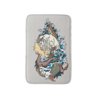 Tapete De Banheiro cavalo marinho mitológico