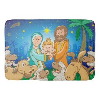 Tapete De Banheiro Cena doce da natividade do bebê Jesus